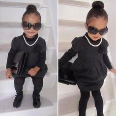 Cute little church outfit.