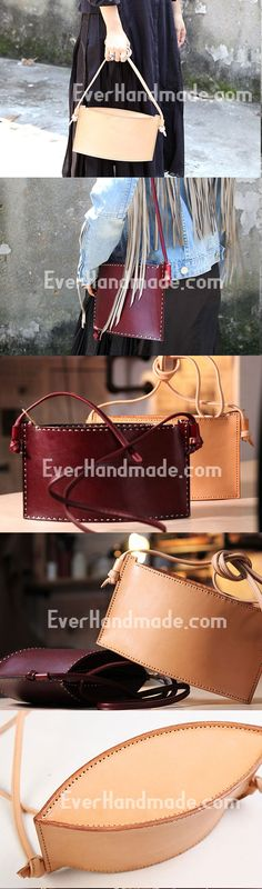 Handmade mini purse leather cute crossbody bag purse shoulder bag for