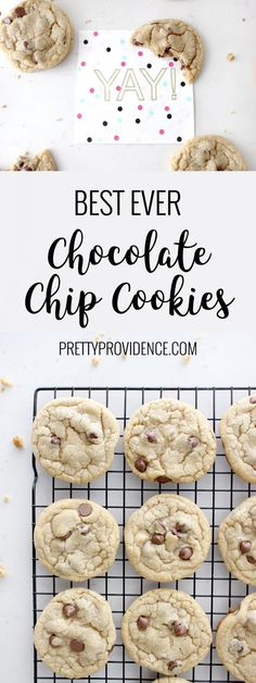 You only need one chocolate chip cookie recipe in your life and this is the one! Literally best ever chocolate chip cookies! You will not regret saving this one.