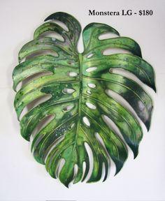 Flower Tattoos, Leaf Tattoos, Cool Tattoos, Painted Leaves, Hand Painted, Puerto Rico, Color Harmony, Plant Leaves, Monstera Leaves
