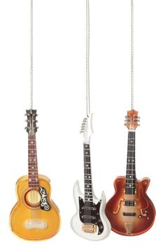 Miniature Red Sunburst Les Paul Electric Guitar Christmas Ornament ...