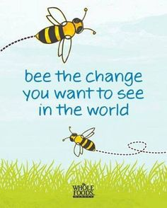 Protect the pollinators…..that help feed the world....This is going to be a new sign in my garden.