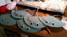 I made these stingrays to put on headbands for our kindergarten commotion in the ocean program.