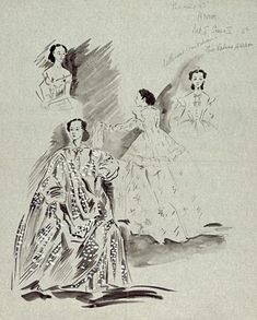 Costume designs for The King and I
