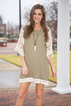 """Boho Beauty Tunic, Taupe"" 