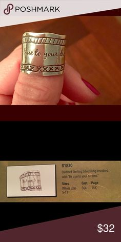 Silpada ring R1820 Be true to your dreams Silpada Jewelry Rings