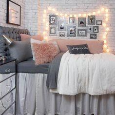 College Bedroom Decor, Bedroom Decor For Teen Girls, Teen Room Decor, Room Ideas Bedroom, Teen Girl Bedrooms, Cute Bedroom Ideas For Teens, Young Adult Bedroom, Dorm Room Themes, Gray Room Decor
