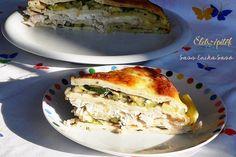 Cukkinis-csirkehúsos rakott palacsinta | Életszépítők