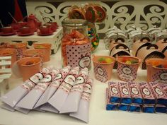 Personalized candy!  Doll's house party themed!