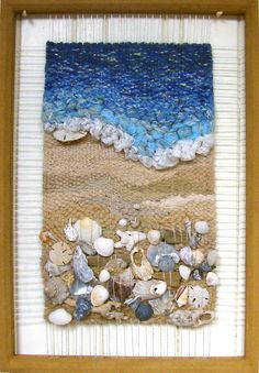 """Martina Celerin Dimensional Weaving """"Low Tide,"""" another great work..."""