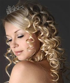 Еasy hairstyles for curly blonde hair for wedding