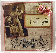 A vintage card for someone you love by DT Rosa  http://blog.pysseldags.com/2013/02/karleksbrev.html http://shop.pysseldags.se