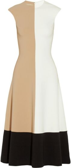 Michael Kors Colorblock Woolblend Crepe Dress in Multicolor (Neutrals) | Lyst