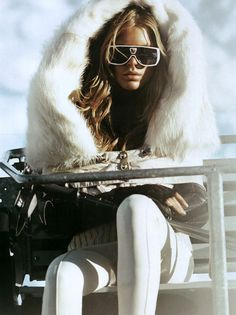 Fashionista snow bunny