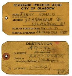 wartime evacuation of children in Great Britain Ww2 History, The Blitz, Battle Of Britain, Label Templates, Vintage Ephemera, World War Two, School Days, School Projects, Great Britain