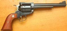 ❦ Ruger Super Blackhawk A beefed up version of Ruger's original Blackhawk single action revolver, the Super Blackhawk easily digested massive quantities of the hottest .44 magnum loads available. It became a favorite with handgun hunters, and those trekking big bear country, and remains a standard by which other big bores are measured.