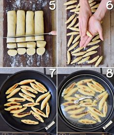 The best vegan and gluten-free German Schupfnudeln (Fingernudeln). Homemade potato noodles are a great alternative to gnocchi or dumplings. Savoury Dishes, Vegan Dishes, Vegan Dumplings, Potato Noodles, Vegan Bread, Gf Recipes, Recipes From Heaven, Aesthetic Food, Going Vegan