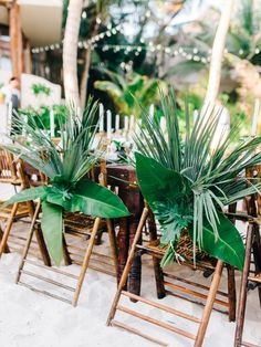 Style Meets Sand for this Destination Wedding in Tulum Tropical Wedding Decor, Palm Wedding, Tropical Weddings, Wedding Flowers, Church Wedding, Wedding Bouquets, Tiki Wedding, Rustic Wedding, Fox Wedding
