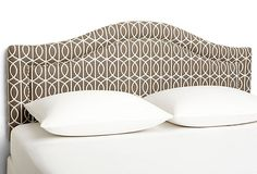 Taupe Arched Headboard on OneKingsLane.com    Love it but wish it was square...