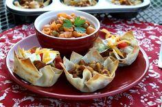 Wonton Taco Recipe | FaveSouthernRecipes.com