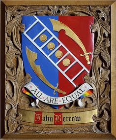 The coat of arms of John Bercow, speaker of the British Parliament, as granted and explained by the College of Arms. (order-order.com)