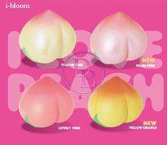 New Ibloom Peach Colours Available for pre-order now at $19 AUD