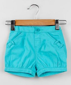 Look what I found on #zulily! Turquoise Bow Shorts - Infant, Toddler & Girls by Beebay #zulilyfinds