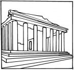 Week 4 Temple Of Artemis Coloring Page Parthenon Greece