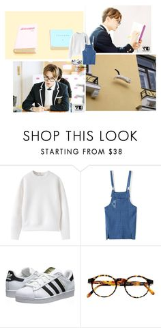 """""""Q&A"""" by icecreamxiumin ❤ liked on Polyvore featuring adidas Originals, François Pinton, kpop, seventeen, hansol, vernon and hiphopunit"""