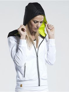 Hooded Stretch-Jersey Jacket