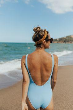 Periwinkle Swimsuit in Barcelona | LivvyLand