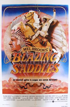 "Film: Blazing Saddles (1974) Year poster printed: 1974 Country: USA Size: 27""x 41"" Artists: John Alvin and Anthony Goldschmidt This is an original, one-sheet movie poster from 1974 for the classic com"