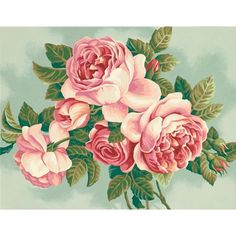 PaintWorks - Heirloom Roses  Paint-by-number