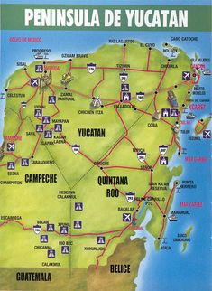 Can you find Coba on this map of the Yucatan? Cozumel, Cabo, Best Hotels, Over The Years, Brave, Adventure, History, Places, Historia