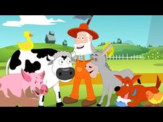 2 Farm Animals Preschool toddlers Old McDonald had a farm Kids tv nursery rhymes animal sound song √ Farm Animals Preschool toddlers . Black White Cartoon Illustration Finding Two Identical in Language Activities, Infant Activities, Activities For Kids, English Activities, Farm Animals Preschool, Animals For Kids, Songs For Toddlers, Kids Songs, Farm Songs