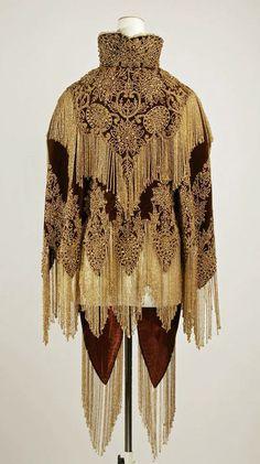 1880s cape via The Costume Institute of The Metropolitan Museum of Art