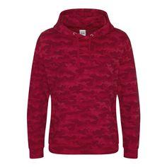 Just Hoods JH014 Red Camo Hoodie - £19.49