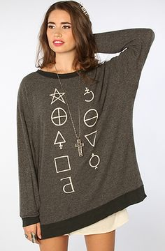 The Star Signs Roadtrip Crewneck in Knight Black by Wildfox