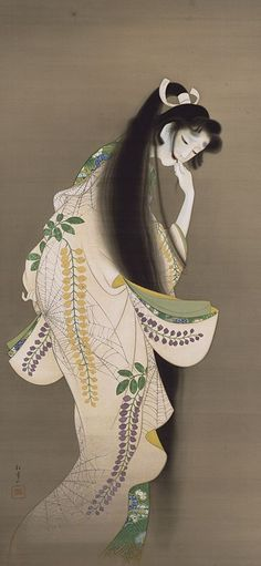 Uemura Shōen. (Japanese, 1875-1949). Uemura Shōen was the pseudonym of an important woman artist in Meiji, Taishō and early Shōwa period Japanese painting. Her real name was Uemura Tsune.