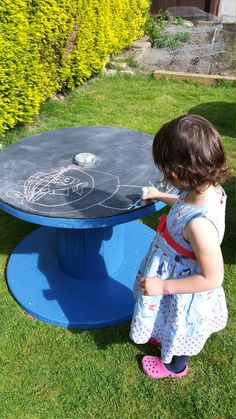 Cable reel chalk board by RubysReels on Etsy