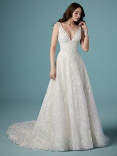 25805 - Ricarda has sparkle GALORE! This stunning Aline wedding gown is available at Aurora Bridal in Melbourne, FL 321-254-3880 Formal Dresses For Weddings, Dresses For Sale, Bridal Dresses, Bridesmaid Dresses, Bridesmaids, Size 12 Wedding Dress, Perfect Wedding Dress, Lace Wedding, Crystal Wedding