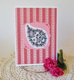 Zentangle Greeting Card Pen and Ink by HDPaperBoutique on Etsy