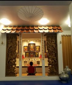 Trendy Home Design Plans Loft Living Rooms Ideas Temple Design For Home, Home Temple, Temple Room, Mandir Design, Pooja Room Door Design, Puja Room, Indian Homes, Indian Home Decor, Room Doors