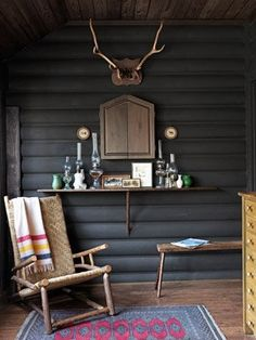 Painted Log Interiors On Pinterest Log Wall Log Cabins And Logs