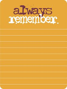 October Journaling Card from Paper Crafts & Scrapbooking magazine | always remember