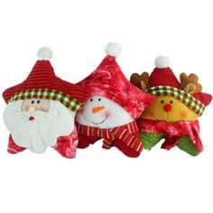 Almohada navidad, navidad decoraciones, 3 estilos almohada, Santa claus, muñeco de nieve, alces, 1 pc/lot, forma de estrella de cinco puntas