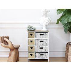 Cassettiera in stile vintage con particolari a forma di cuore, linea REBECCA PARIS.  Ideale per tutti gli ambienti della vostra casa.   #shabby #chic #furniture #home #house #design #interior #interiors #restyling #style #makeover #vintage #retro #white #wood #beige #grey #tutorial #idea #ideas #diy #black #friday #blackfriday #cyber #monday #cybermonday #sale #sales #sconti #mobili #arredamento #mobiletto #mobiletti #living #room #bedroom