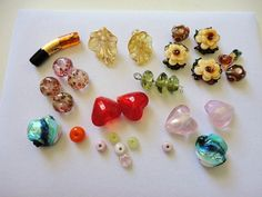 bead for jewelry designer. lampwork bead. glass beads. destash beads. mix bead supply. unique beads. bead lot. mix color glass beads by veroniquesjewelry. Explore more products on http://veroniquesjewelry.etsy.com