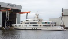 Second 74m Amels 242 yacht emerges from shed