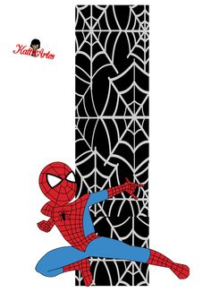 Alfabeto de Spiderman con Fondo Negro. | Oh my Alfabetos!                                                                                                                                                                                 Más Spider Man Party, Spiderman Theme, Black Spiderman, Superhero Birthday Party, Baby Birthday, Mickey Minnie Mouse, Letters And Numbers, Holidays And Events, Clipart